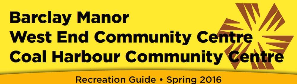 Vancouver Community Centres - spring program guide 2016