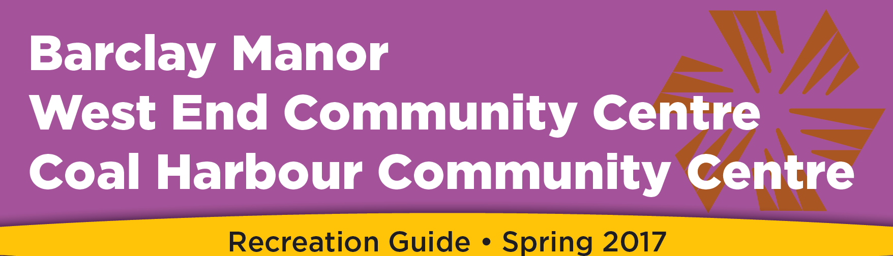 Community Centres Vancouver - spring program guide 2017