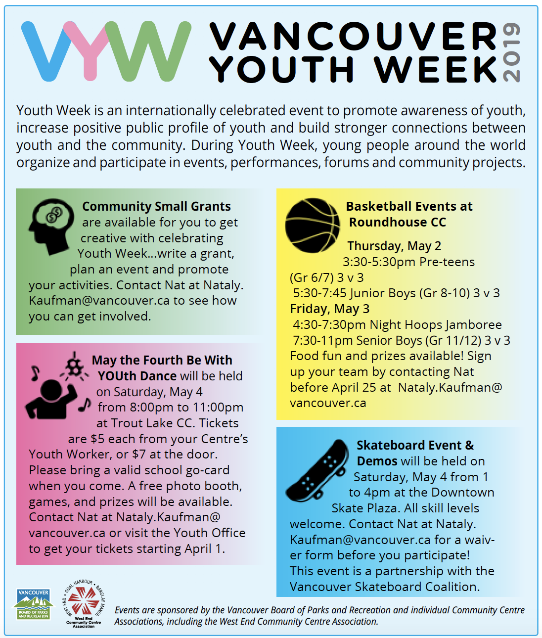 Vancouver Youth Week 2019 West End Community Centre